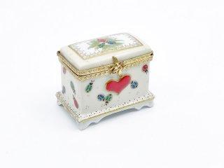 リモージュ LIMOGES 陶製 ボックス ピルケース 小物入れ てんとう虫 ハンドペイント 金彩 フランス ●