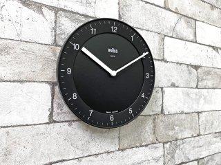 ブラウン BRAUN ウォールクロック 掛け時計 BNC006 クオーツ ブラック ABW30再現モデル ●