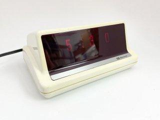 マルマン Maruman デジタルクロック 置時計 ネオトーン LS-300 光ドラム式 アラーム付き アイボリー ビンテージ レトロポップ ●