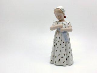 ビングオーグレンダール Bing&Grondahl フィギュリン マリー Mary 少女 陶器 置物  ●