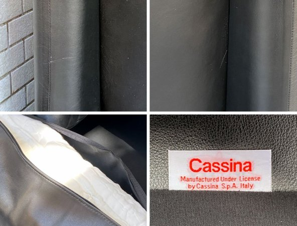 カッシーナ イクスシー Cassina ixc. 675 マラルンガ MARALUNGA 1Pソファ 本革 ブラック ヴィコ・マジストレッティ ■