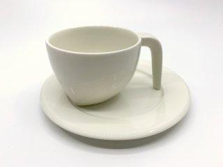 イッタラ iittala エゴ Ego コーヒー カップ&ソーサー C&S ホワイト ステファン・リンドフォース 北欧食器 廃番 A ●