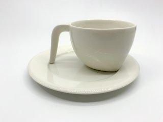 イッタラ iittala エゴ Ego コーヒー カップ&ソーサー C&S ホワイト ステファン・リンドフォース 北欧食器 廃番 B ●