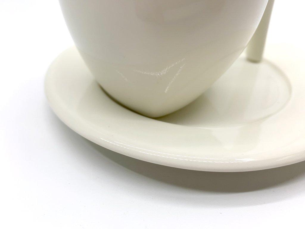 イッタラ iittala エゴ Ego コーヒー カップ&ソーサー C&S ホワイト ステファン・リンドフォース 北欧食器 廃番 C ●