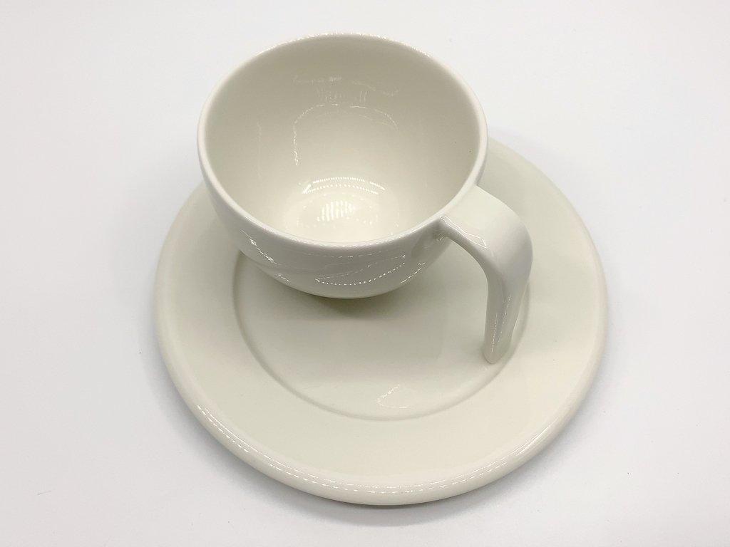 イッタラ iittala エゴ Ego コーヒー カップ&ソーサー C&S ホワイト ステファン・リンドフォース 北欧食器 廃番 D ●