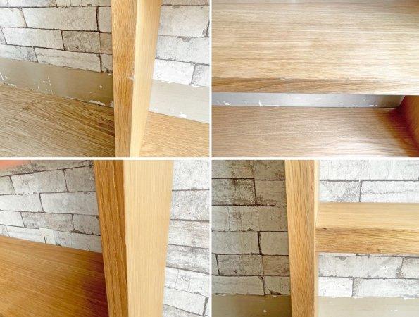 無印良品 MUJI スタッキングシェルフ 1列3段 ワイド オープンシェルフ オーク材 ナチュラル シンプルデザイン A ●