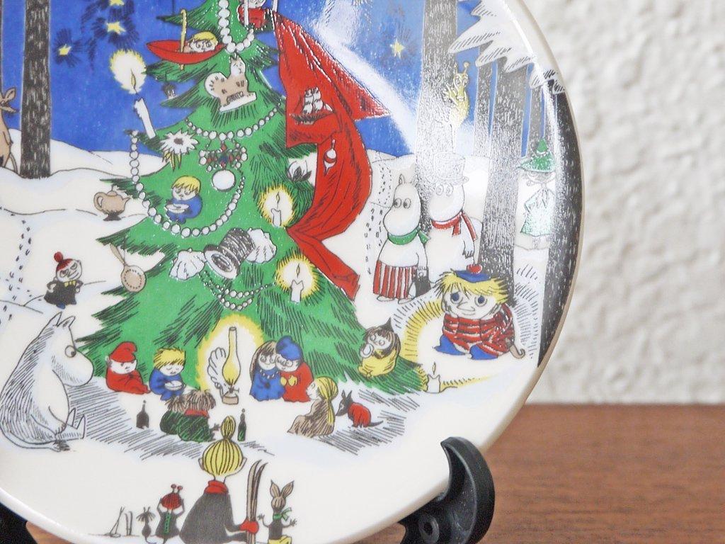 アラビア ARABIA ムーミン ミニウォールプレート クリスマス Christmas 1992-1996年限定 希少品 美品 ◇