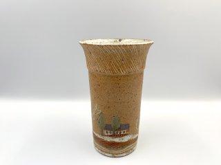 ケーラー KAHLER ビンテージ フラワーベース 花瓶 花器 高さ16.5cm デンマーク 北欧陶器 希少 レアアイテム 入手困難 ◎