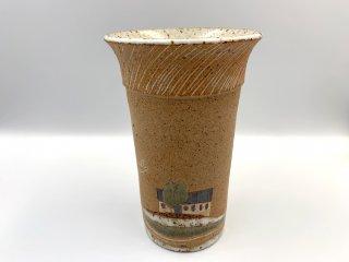 ケーラー KAHLER ビンテージ フラワーベース 花瓶 花器 高さ18.5cm デンマーク 北欧陶器 希少 レアアイテム 入手困難 ◎