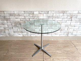 ウォルターノル WALTER KNOLL エックステーブル X-Table カフェテーブル ガラストップ Pearson Lloyd モダンデザイン ドイツ ●