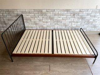 ジャーナルスタンダードファニチャー journal standard Furniture サンク SENS ベッドフレーム セミダブル 鉄脚 インダストリアルデザイン 定価¥78,100- ●