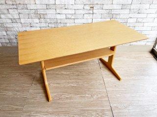 無印良品 MUJI リビングでもダイニングでもつかえる テーブル オーク材 W130cm シンプルデザイン ●