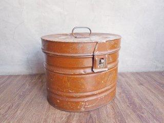 ヴィンテージ Vintage メタルボックス ツールボックス 小型収納 スチール ブラウンカラー インダストリアル ♪