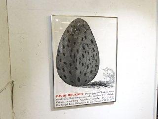 ディヴィッド・ホックニー David Hockney 卵に隠れた少年 The boy hidden in an egg ビンテージポスター フレーム付 ★