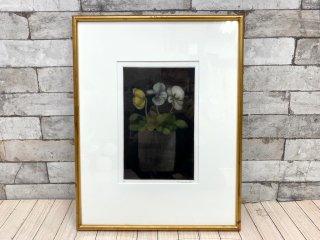 坂本 好一 銅版画 植物 花 静物画 額装品 16/20 B ●