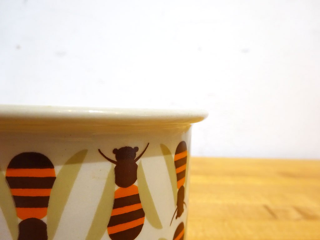 アラビア ARABIA ポモナ Pomona ジャムポット 蜜蜂 Sサイズ ビンテージ ライヤ・ウォシッキネン 北欧食器 希少 ★