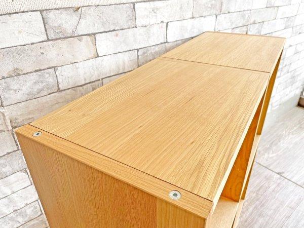無印良品 MUJI スタッキングシェルフ 2列2段 オーク材 オープンシェルフ W81cm 定価22,800円 ●