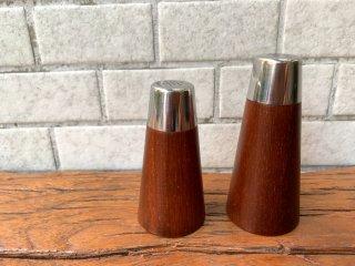デンマークビンテージ Danish Vintage ソルト&ペッパー セット SALT & PAPPER チーク材 北欧食器 ■