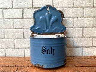 UKアンティーク UK Antique ホーロー製ウォールラック ソルト Enamel wall salt rack 壁掛け ブロカント 古道具 インテリア ■