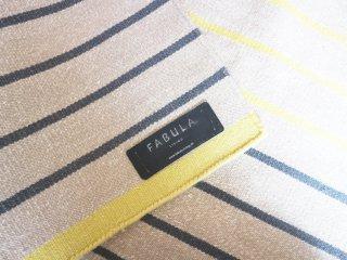 ファビュラリビング fabula living ラグ 絨毯 poppy yellow beige 140×200cm ウール ボーダー柄 Lisbet Friis 北欧 デンマーク ◎