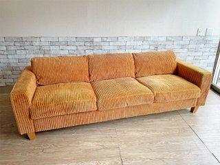 アクメファニチャー ACME Furniture ジェティ フェザー ソファ JETTY feather SOFA 3P コーデュロイ マスタード 定価\317,900- ●