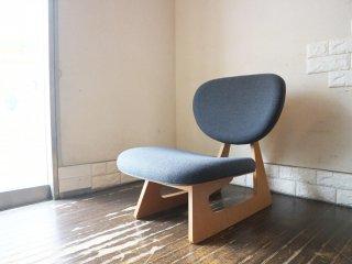 天童木工 TENDO 低座椅子 長大作 デザイン 座面張替済 グレー ナラ柾目 和モダン ◎