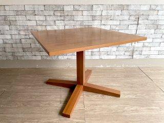 クラフト家具 スクエア ダイニングテーブル オーク材 高さ65.5cm ●