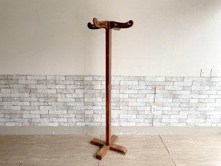 ヴィンテージ Vintage コートハンガー ハットスタンド 木味 H165cm 店舗什器 ●