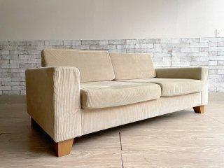 ジャーナルスタンダードファニチャー journal standard Furniture リヨン ソファ LYON SOFA 2P コーデュロイ生地 アッシュ材 ●
