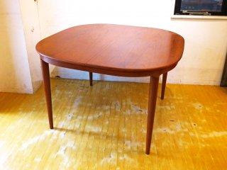 北欧ビンテージ Scandinavian Vintage チーク材 エクステンションダイニングテーブル EXT天板2枚 最大215cm 北欧家具 ★