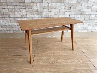 ウニコ unico アディ ADDAY カフェテーブル ローテーブル オーク材 オイル仕上げ W100cm 定価¥43,780-  ●