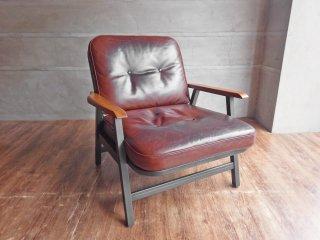 アクメファニチャー ACME Furniture グランビュー ラウンジチェア GRANDVIEW LOUNGE CHAIR オイルレザー × アイアン × オーク無垢材 定価117,700円 ♪