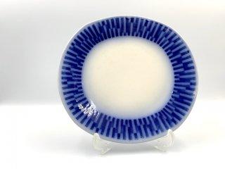 ゲフレ Gefle Scala プレート 19cm ブルー スウェーデン ビンテージ 北欧食器 希少 A ◎