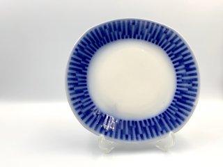 ゲフレ Gefle Scala プレート 19cm ブルー スウェーデン ビンテージ 北欧食器 希少 B ◎