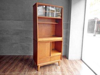 ウニコ unico シグネ SIGNE キッチンボード W80 オーク材 ブラウン 廃番モデル 食器棚 カップボード 北欧スタイル ♪