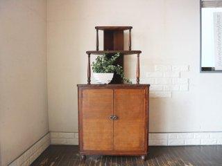 ジャパンビンテージ japan vintage コーナー キャビネット 昭和初期  棚 飾り棚 ◎