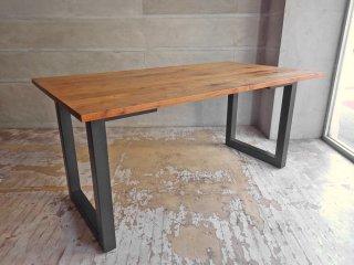 広松木工 hiromatsu フレックス Frex ダイニングテーブル ローテーブル ウォールナット材 W154 スチールレッグ  高さ変更可能 参考価格:216,700円 ♪