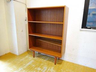 デンマーク ビンテージ Danish Vintage チーク材 ブックシェルフ Book shelf デザイン棚 スローハウス購入 ★