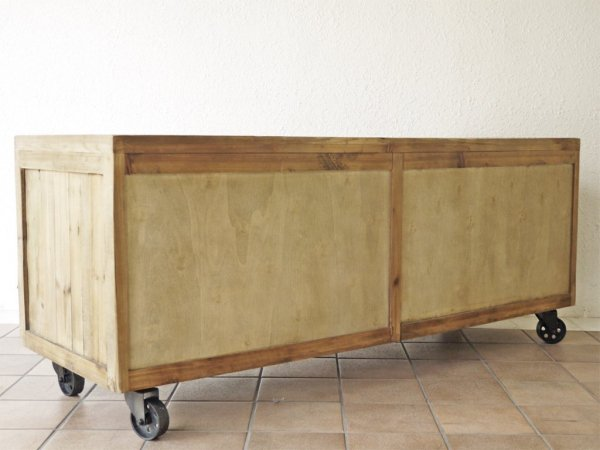 クラッシュゲート CRASH GATE ノットアンティークス Knot antiques ガンズ GUNS ボックスキャビネット 4BOX パイン古材 インダストリアル 定価¥209,000- ◇