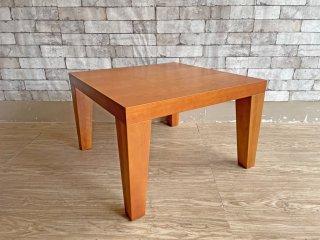 フクラ HUKLA スクエアローテーブル センターテーブル カバ材 60×60cm 廃番品 北欧モダンスタイル ●