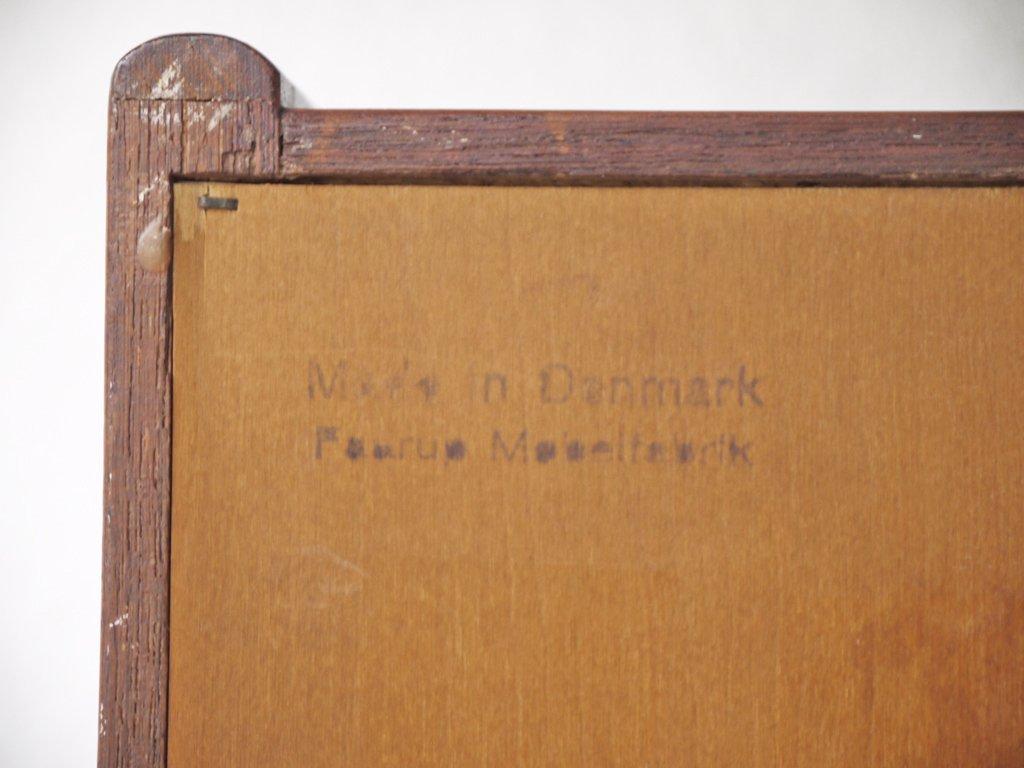 Faarup Møbelfabrik サイドボード ビンテージ チーク材 蛇腹 イブ・コフォード・ラーセン Ib Kofod Larsen 1960's デンマーク haluta取扱 ◇