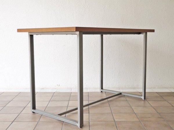イデー IDEE プランクス PLANX ダイニングテーブル 木製天板 スチールレッグ オーダーメイド インダストリアル ワークテーブル 廃盤 希少 ◇