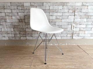 ヴィトラ Vitra サイドシェルチェア エッフェルベース ポリプロピレン製 ホワイト C&R イームズ ミッドセンチュリーデザイン ●
