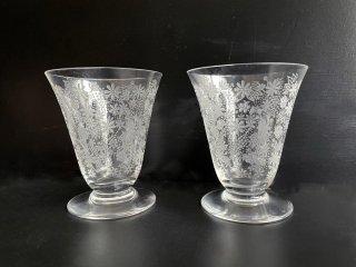 バカラ Baccarat エリザベート Elisabeth ポートワイングラス ペア 冷酒グラス 最上級 モデル クリスタル グラス フランス ●