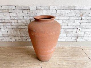 ガーデンアイテム Garden Item 特大 水瓶 テラコッタ 素焼き 鉢 Φ53cm ディスプレイ オブジェ ●