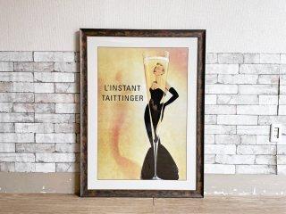 アドバタイジングポスター テタンジェの瞬間 L'instant Taittinger グレース・ケリー Grace Kelly プリント 額装品 ビンテージスタイル ●