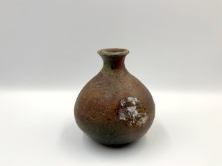 山田 隆太郎 花器 花瓶 フラワーベース 一輪挿し 高さ10.5cm 焼締 陶芸家 現代作家 ◎