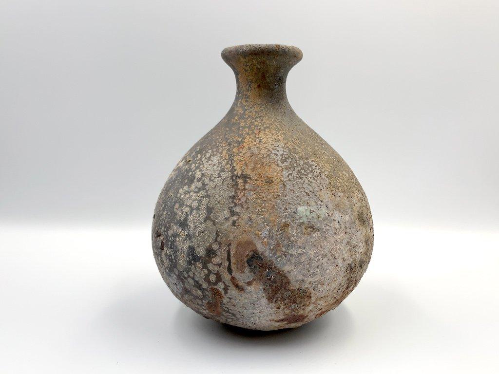 山田 隆太郎 花器 花瓶 フラワーベース 一輪挿し 高さ15.5cm 焼締 陶芸家 現代作家 ◎