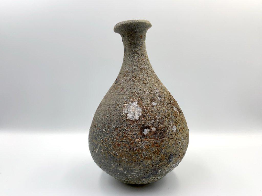 山田 隆太郎 花器 花瓶 フラワーベース 一輪挿し 高さ21cm 焼締 陶芸家 現代作家 ◎