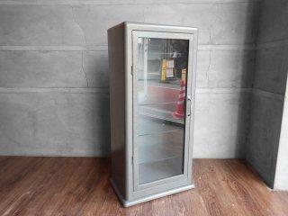 ダルトン DULTON キャビネット 5 レイヤー CABINET 5 LAYER グレー キュリオケース ディスプレイラック 飾り棚 ガラス スチール 廃番 ♪